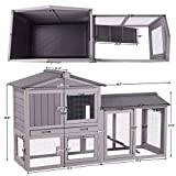 Aivituvin Rabbit Hutch Indoor Bunny Cage