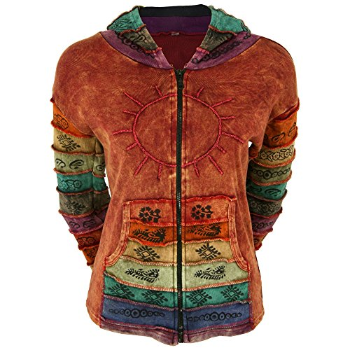 - GreaterGood Sunshine Daydream Hooded Jacket (S/M, Rust)