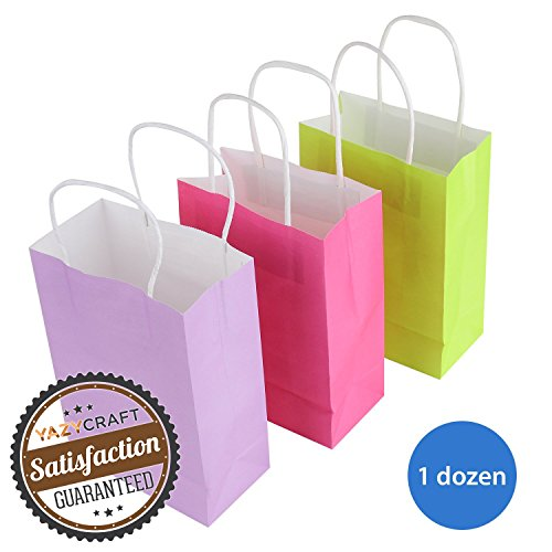 Coloured Paper Gift Bags With Handles - 7