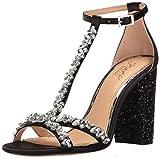 Jewel Badgley Mischka Women's Carver Dress Sandal, Black, 7.5 M US