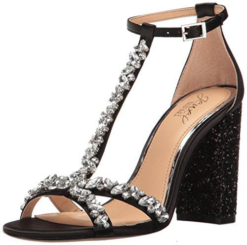Jewel Badgley Mischka Women's Carver Dress Sandal, Black, 8 M US