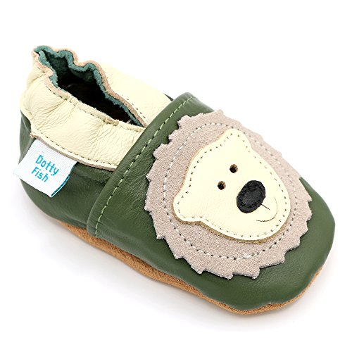 Dotty Fish Soft Leather Baby /& Toddler Shoe Panda 4-5 Years 0-6 Months