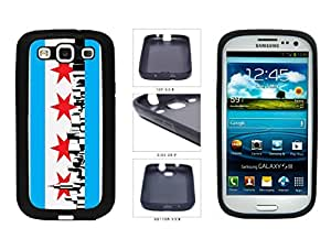 Chicago Flag Skyline TPU RUBBER SILICONE Phone Case Back Cover Samsung Galaxy S3 I9300