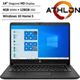 "Newest HP 14"" HD WLED Backlit High Performance Business Laptop, AMD Athlon Silver 3050U up to 3.2GHz, 4GB DDR4, 128GB…"