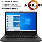 "Newest HP 14"" HD WLED Backlit High Performance Business Laptop, AMD Athlon Silver 3050U up to 3.2GHz, 4GB DDR4, 128GB SSD, Wi"