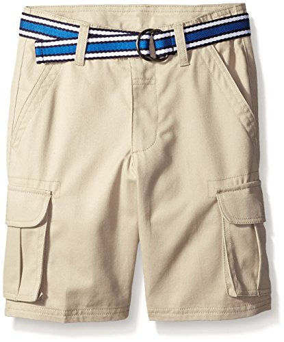 Adjustable Waist Cargo Shorts - French Toast Little Boys' Cargo Short, Khaki, 5