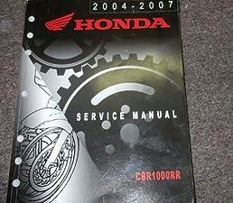 2004 2005 2006 2007 honda cbr1000rr cbr motorcycle service shop rh amazon com cbr 1000 rr 2006 service manual 2006 cbr1000rr service manual download