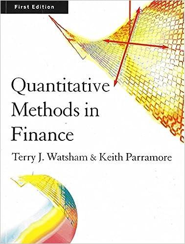 quantitative methods in finance watsham