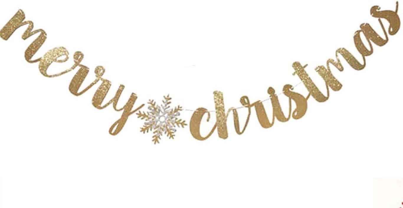 Merry Christmas Banner Red Gold glitter,Christmas Banner,Christmas Decoration,Be Merry Banner