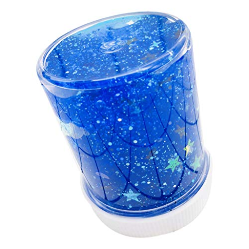 Gbell Blue Shining Star Slime Toys for Kids Adults - Jumbo Puff Slime Stress Relief Toys for Girls Boys - Super Soft Squeeze Mud Puff Slime Putty Kids Clay Toy,4 Oz (Blue)