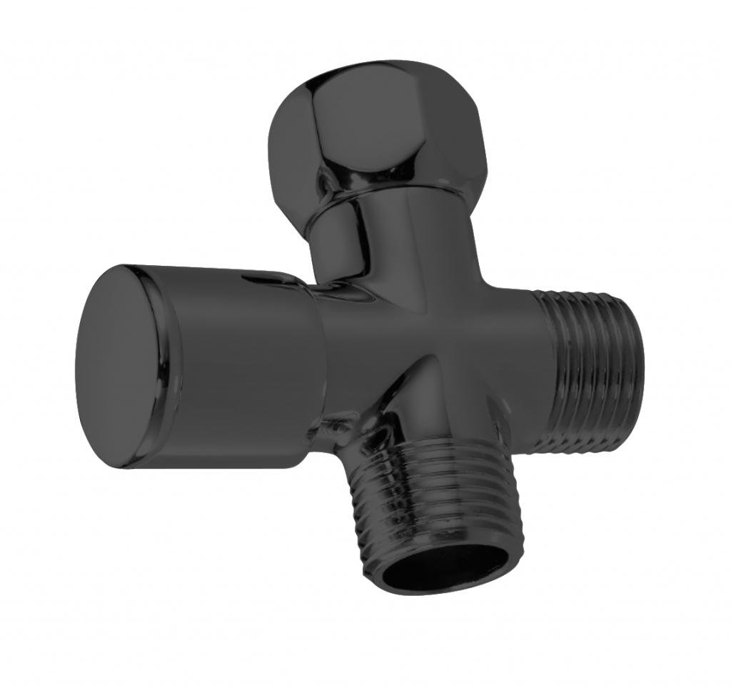 Westbrass Shower Arm 1/2'' IPS Diverter Valve, Matte Black, D348-62