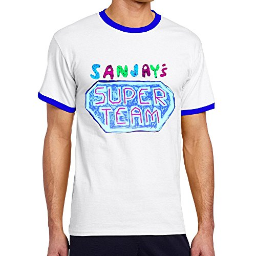 Vansty Sanjay's Super Team 100% Cotton T-shirt For Male RoyalBlue Size S