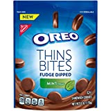 #7: Oreo Thins Bites Fudge Dipped Chocolate Sandwich Cookies, Mint Creme, 6 Ounce