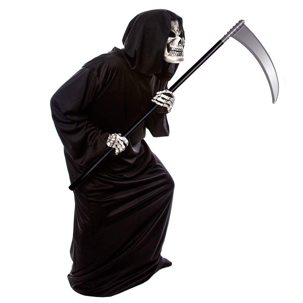 Halloween Toy Grim Reaper Death Scythe Sickle Weapon Prop Costume Cosplay Accessory Black