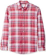 Amazon Essentials Men's Regular-Fit Long-Sleeve Linen Cotton S