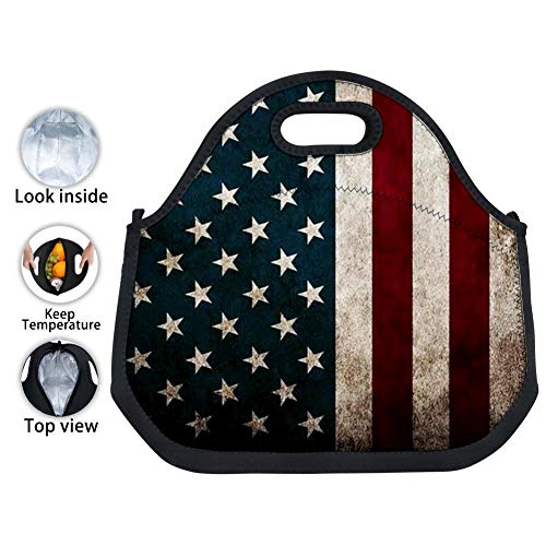 YEREO Cartoon American Condor Waterproof Tin Foil Tote Bag Lunch Bag for Students, Kids and Adults