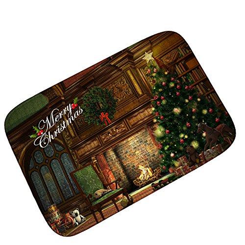 Yj Gwl Merry Christmas Doormat Welcome Door Mat Rug Indoor