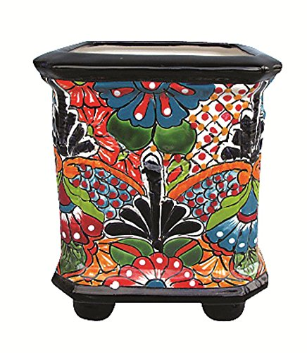Talavera Planter with Feet - Pottery Talavera
