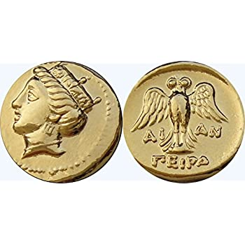 Tyche Goddess of Luck and Fortune Greek Coins Greek Mythology 6-G