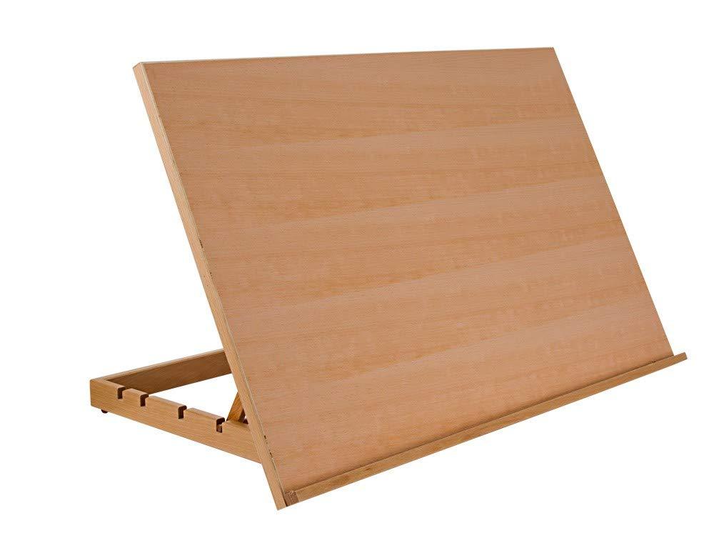 "SoHo Urban Artist Drawing Board Extra Large Size 19.75"" x 29.5"", 5-Position Adjustable Wood Drafting Table, Natural Beechwood Finish"