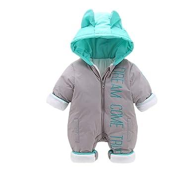 Chaqueta de abrigo para niños Invierno cálido bebé recién nacido espesar caricatura sudadera con capucha mameluco