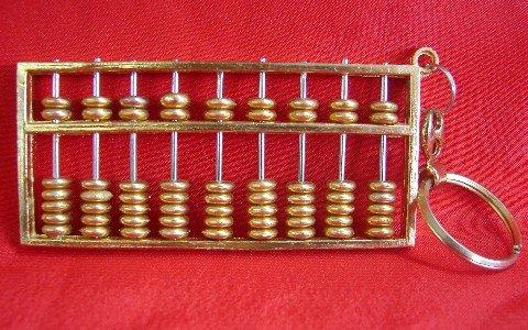 Feng Shui Brass Abacus (Brass Solid Columns)