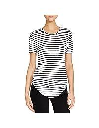 Benjamin Jay Womens Hampton Linen Blend Shirttail Hem T-Shirt