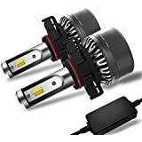 Win Power 5202 Fog Light PSX24w Led Headlight Bulb Conversion Kit Dual Color For Jeep Grand Cherokee Wrangler Trucks Cars DRL Lights Kit Replacement Bulb 3000K Yellow 6000K White (Pack of 2)