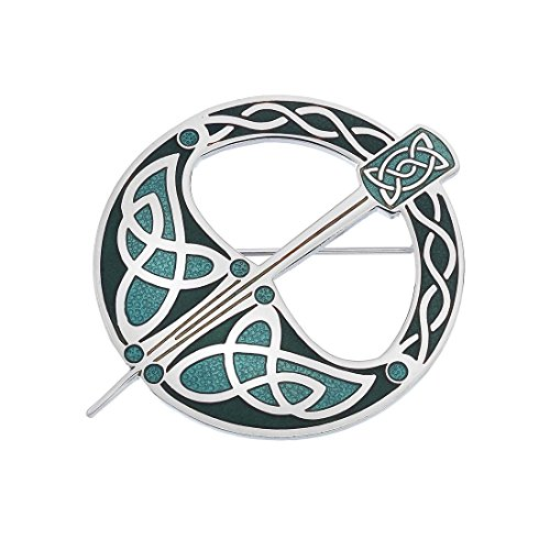 Sea Gems Blue Celtic Tara Designed Brooch