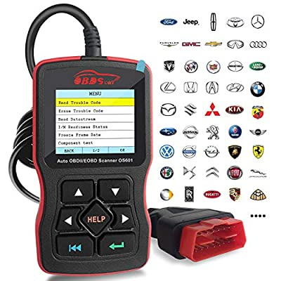 OBDScar OS601 EOBD OBD2 Scanner Automotive Engine Fault Code Reader CAN Diagnostic Scan Tool (2018 Model) from OBDScar