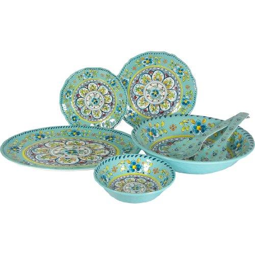 Le Cadeaux Madrid Turquoise – 16 Piece Set For Sale