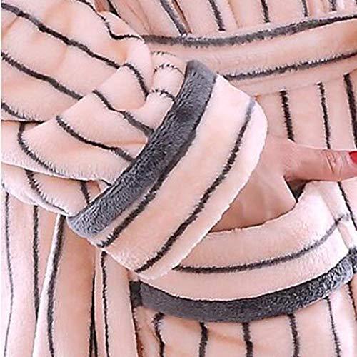 con cotone pigiama lunga accappatoio Large inverno autunno femminile Completo manica sezione SYY di XX in notte poliestere tasche accappatoio da camicia e lunga a da in pigiama fibra femminile qYfHEX
