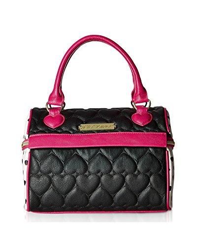 Johnson Leather (Betsey Johnson Women's Speedy Lunch Tote Black Handbag)