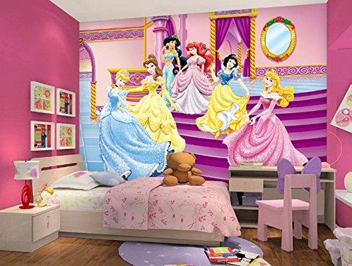"3D Cartoon Princess 62 Wall Paper Print Decal Deco Indoor Wall Mural Self-Adhesive Wallpaper AJ Wallpaper US Carly (Vinyl (No Glue & Removable), 【 82""x58""】 208x146cm ()"
