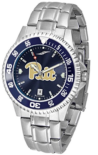 NCAA University of Pittsburgh Mens Stainless Watch COMPM-AC-PIP