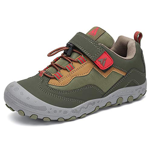Mishansha Kids Hiking Shoes Boys Girls Outdoor Trail Walking Running Tennis Athletic Sneakers