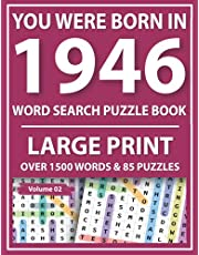 You Were Born In 1946: Word Search Puzzle Book: Brain Sharper Game For Adults Men Women & Perfect Gift For Seniors With Solution