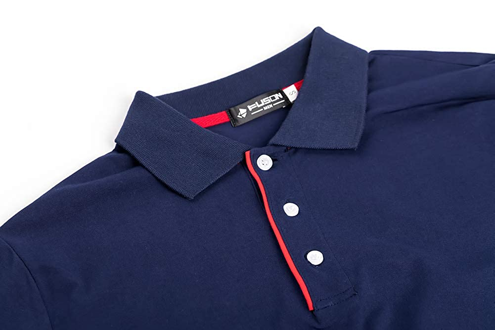 Musen Men Short Sleeve Polo Shirts Cotton Classic Fit T-Shirt Casual Polos Sport Tops
