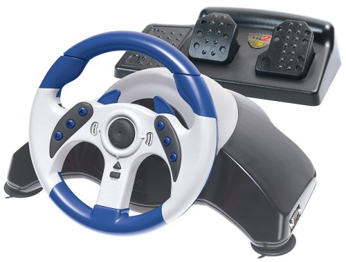 Mad Catz MCB8230 PS2 MC2 MICROCON RACING WHEEL WITH PEDALS
