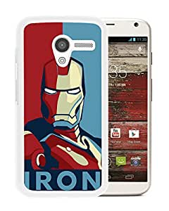 Beautiful Designed Cover Case For Motorola Moto X With Iron man White Phone Case
