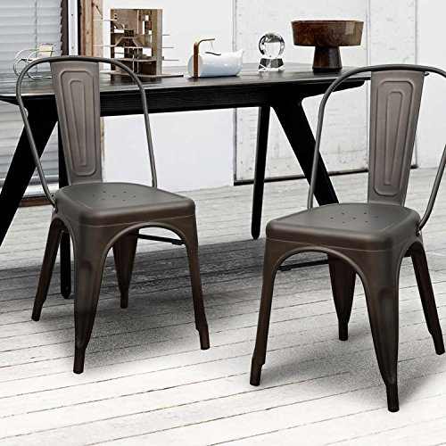 Adeco Metal Stackable Industrial Chic Dining Bistro Cafe  : 518Y2WTjZPL from www.desertcart.ae size 500 x 500 jpeg 59kB