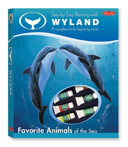 Step-by-Step Painting with Wyland: Favorite Animals of the Sea Drawing Book & Kit (Wyland Art Kit Series)
