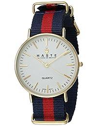 Haste 113112932 Reloj para Adultos Unisex, Redondo, Análogo, color Blanco y Azul