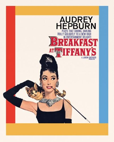 (Audrey Hepburn Breakfast at Tiffany's Cat Classic Hollywood Movie Actress Celebrity Poster Print 16x20 )