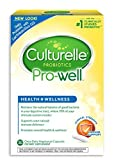 Culturelle Pro-Well Health & Wellness Daily Probiotic Dietary Supplement | Restores Natural Balance of Good Bacteria in Digestive Tract* | With #1 Proven Effective Probiotic | 30 Vegetarian Capsules