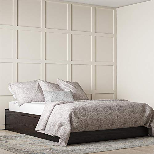 Ameriwood Home Full Platform Bed with Drawers, Espresso