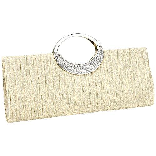 Clutch White Silver Bag Party Ladies Womens Diamante Gold Crystal Handbag Evening Purse Wedding Black Bridal Tote Wallet w6cOBX
