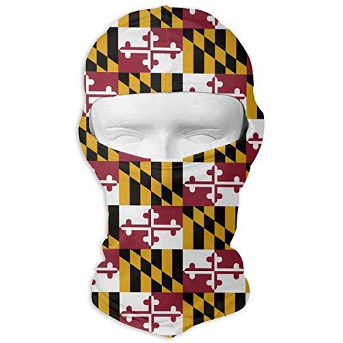 (Yuisdwz Maryland State Flag Balaclava Face Mask Hood Outdoor Sport Hat for Ski,Cycling,Motorcycling,Climbing New2)