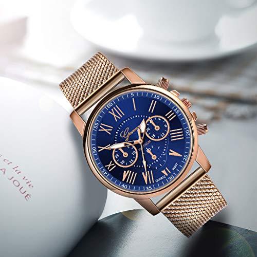 Pocciol Fashion Military Stainless Steel Quartz Watch Womens Casual Watch Luxury Analog Wristwatch (Blue) by Pocciol Cheap-Nice Watch (Image #2)