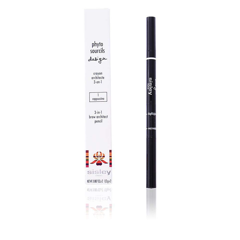 Sisley Phyto Sourcils Design 3 In 1 Brow Architect Pencil - # 1 Cappuccino 2x0.2g/0.007oz by Sisley